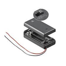 S691 - 2 Pezzi Portabatterie 2x Mignon AA Batteria chiuso con Interruttore