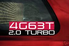 4G63T 2.0 Turbo sticker for Mitsubishi lancer evolution (evo) 1-9 / Galant