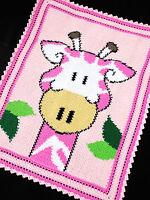 Crochet Patterns - GIRAFFE Zoo/Safari Color Graph BABY GIRL AFGHAN Pattern