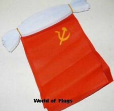 USSR BUNTING Russia Russian 9m 30 Polyester Party Flags Soviet Union Flag