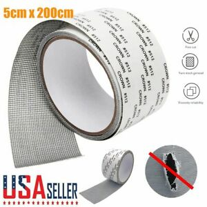 2M Window Door Screen Patch Repair Kit Cover Fiberglass Mesh Hole Repaire Tape