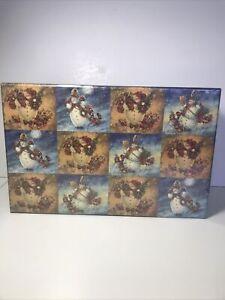 5 Nesting Stacking Lang Bob's Boxes Magical Snowmen artwork of Stewart Sherwood