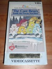 The Care Bears Battle the Freeze Machine VHS 1989 Very Rare FREE DVD
