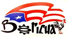 Puerto Rico Boricua Taino Flag with Rooster Decal Sticker