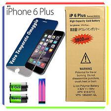 BATTERIA NUOVA MAGGIORATA PER APPLE iPhone 6 PLUS 3800mAh 0 CICLI +ADESIVO+VETRO