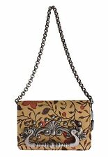 NUEVO DOLCE & Gabbana Bolso GINEVRA beis flores bordadas Bolso de mano