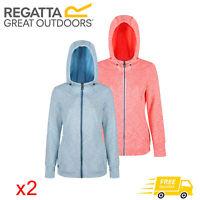 2 x Regatta Ramosa Womens Full Zip Fleece Jacket Blue & Orange