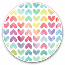 2 x Vinyl Stickers 7.5cm - Pretty Love Hearts Valentines Cool Gift #3727