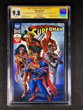 Superman #75 CGC 9.8 SS (2018) - SS 5X Cavill, Fisher, Gadot, Miller, Momoa