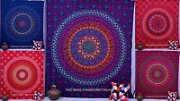 Indian Mandala Tapestry Hippie Wall Hanging Queen Bedspread Beach Throws Blanket