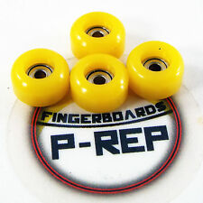 Peoples Republic- CNC Lathed Bearing Wheels for wooden fingerboard  - Yellow