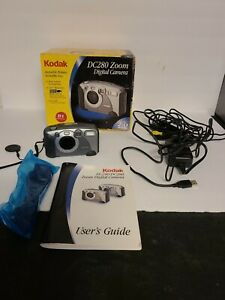 Kodak DC 280 Zoom 2.0MP Digital Camera - Black Silver With Original Box & Manual