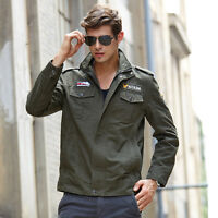 New Men's Military Style Zip Jacket Air Force jacket Military Coat UTN214