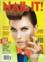 Nail It Magazine Bridal Nails Celebrity Style Graphic Black And White Art Tips