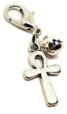 Metal Ankh Charm para Collar Mascota Familiar Monedero Pulsera Clip Plata Bell
