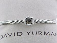 DAVID YURMAN 4MM SMOKY QUARTZ AND  PAVE DIAMOND NOBLESSE BRACELET