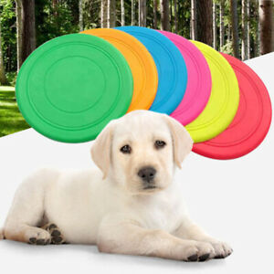 New Dog Frisbee Toy Exercise Pet Training Tool Silicone Puppy Saucer Flying Disc