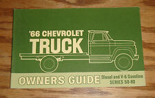 Original 1966 Chevrolet Diesel & V-6 Gas Series 50-80 Owners Operators Manual