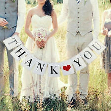 THANK YOU Wedding Card Banner Sign Married Photo Prop Party Decorating Vintage