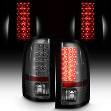 Smoked 2007-2013 Chevy Silverado LED Tail Lights Lamps Left+Right Aftermarket