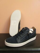 Zanotti-Mens-Low-Top-Navy-Blue-Zip-Sneaker-Size-45-12 made in Italy org. pr.$650