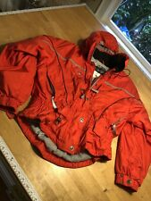 Vtg 80s KAELIN Womens Size 14 Red  Puffy Cinch Waist Ski Jacket