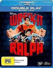 WRECK IT RALPH BLU RAY & DVD - LIKE NEW 2 DISC SET, PIXAR, DISNEY, FREEPOST