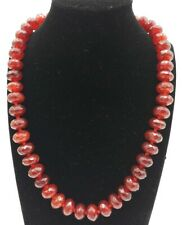 Rondelle Gems Beads Necklace 18'' Aaa Natural 8x12mm Brazil Red Ruby Faceted
