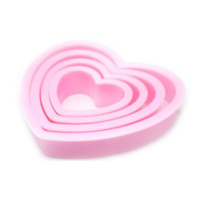 Heart Shaped Cookie Cutter Cake Pastry Biscuit Sugarcraft Bake Mould 4 Pcs Set