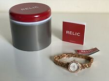 NEW! RELIC JENNA ROSE GOLD GLITZ WOMEN'S BRACELET WATCH ZR34324 $70 SALE