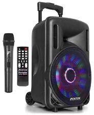 "Fenton FT10LED Altavoz activo de 10"" 450W Bluetooth/USB/SD/AUX LED Batería"