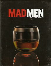 MAD MEN - Series 3. THE WORLDS GONE MAD. Jon Hamm (4xDVD BOX SET 2010)