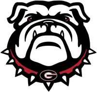 "University of Georgia Bulldogs Color Vinyl Decal - You Choose Size 2""-28"""