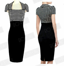 Polyester Checked Work Dresses for Women