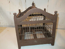 Antique Bird Cage Wood And Wire