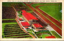Postcard Aerial View of Arlington Downs Between Dallas & Fort Worth Texas
