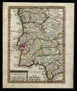 Portugal Algarve Kingdoms 1719 Chiquet map southern Spain