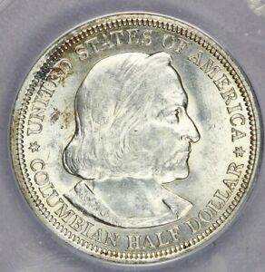 1893-P 1893 Columbian Expo Half Dollar ANACS MS62