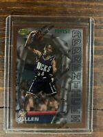 Ray Allen Rookie Basketball Card #22 Topps Finest RC Milwaukee Bucks NBA HOF SSP