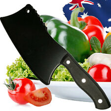 Black Chopper Cleaver Chopping Kitchen Knife Cutlery Knives Steel Hkikn9511