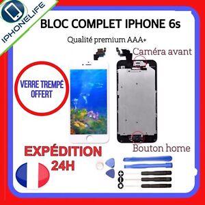 VITRE TACTILE+ECRAN LCD RETINA COMPLET SUR CHASSIS IPHONE 6S NOIR BLANC + OUTiLS