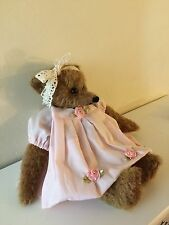 mohair bear shabby chic OOAK ( Please Allow 10 Working Days For Dispatch)