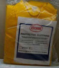 NEW BOSS PROTECTIVE CLOTHING YELLOW SIZE XXXXL 4XL poly vinyl chloride garment