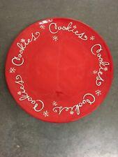 "Hallmark Red Cookie Platter Plate 15"" EUC"