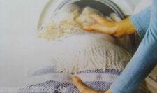 8  Stück je 40x30cm Wäschenetze Waschsäcke Waschnetz Sack Waschmaschine Weiss