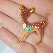 Unique Vintage Style DEER BROOCH pin BAMBI collectable RETRO gorgeous 50s 60s