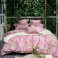 Luxury Egyptian Cotton Royal Embroidery Bedding Set Cover Bed Sheet/Linen 4/7pcs