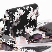 Women Floral Pattern leather Handbag Small Messenger Bag Clutch Shoulder Bags DI