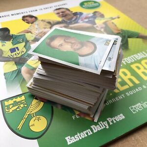 FULL SET Official NCFC Norwich City FC stickers 2020-21 / 230 stickers + book
