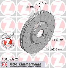 Brake Disc (2 Piece) Coat Z - Zimmermann 400.3632.20